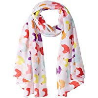 Fluffy Layers Fashion Scarves (White Chicken Print)