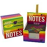スクラッチ式メモ用紙レインボー色:表面黒色?削ると虹色、正方形厚紙150枚入、クラフト?景品? オフィスの飾りにも (Purple Ladybug Novelty)