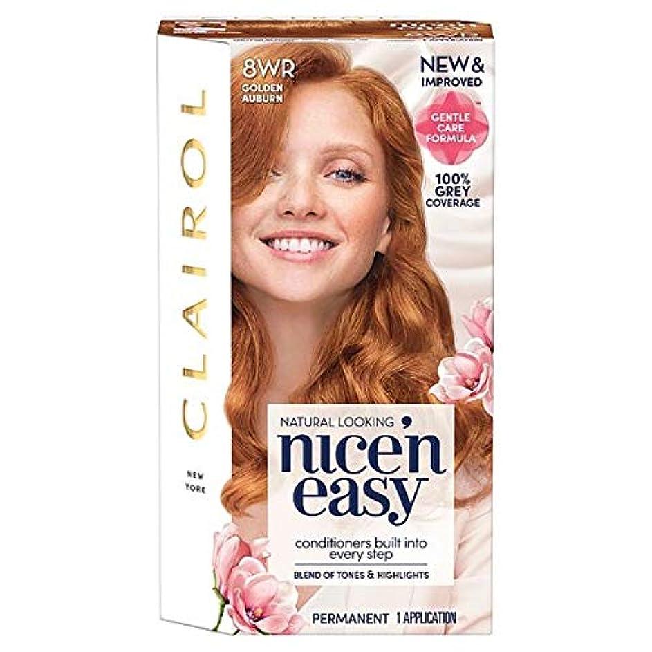意識的適度なキャンパス[Nice'n Easy] クレイロール素敵な「N簡単黄金赤褐色8Wr染毛剤 - Clairol Nice 'N Easy Golden Auburn 8Wr Hair Dye [並行輸入品]