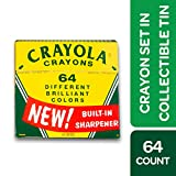 Crayola 60th Anniversary 64Count Crayon Set with Collectible Tin, Gift