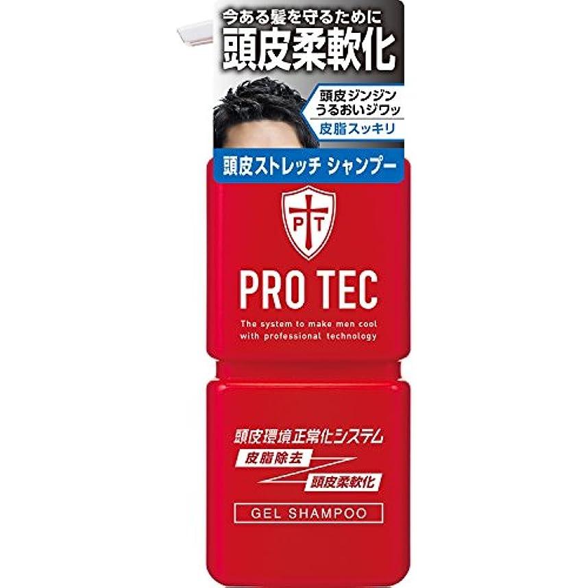 接地才能のある紫のPRO TEC(プロテク) 頭皮ストレッチ シャンプー 本体ポンプ 300g(医薬部外品)