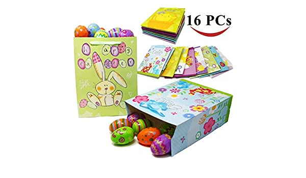 Amazon joyin toy 16 easter day party gift bags for easter amazon joyin toy 16 easter day party gift bags for easter party favors 8 large and 8 medium sizes negle Images