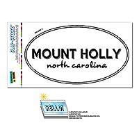 マウントホリー, NC - ノースカロライナ州 - 黒と白 - 都市国家 - 楕円形 Laminated ステッカー