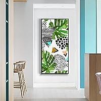 壁画のモダンなミニマリストの入り口の装飾的な絵画ホテルドレープリの廊下の通路の絵画のリビングルームのレストランのソファーの背景の壁 (Color : Gold, Size : 60 * 120CM-B)