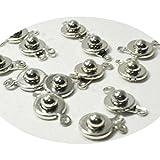 【OMAMORI-DO~stone-pro~】 卸売り・アクセサリーパーツ・ニューホック・銀色・9mm・10個パック 単品 キャップ ビーズ バラ売り ネックレス留め具