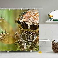 シャワーカーテン 防カビ おしゃれ リング付属 クモ バスカーテン 防炎 環境にやさしい 目隠し洗面所 間仕切り 取付簡単 165x180cm