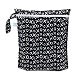 Bumkins Waterproof Wet Bag, Washable, Reusable for Travel, Beach, Pool, Stroller, Diapers, Dirty Gym Clothes, Wet Swimsuits, Toiletries, Electronics, Toys, 12x14 - XOXO