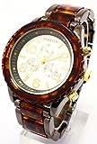 今欲しい!そんな気にさせる一本 べっ甲カラーメタルコンビ腕時計 [ SORISSO ]  誕生日プレゼント (ホワイト)