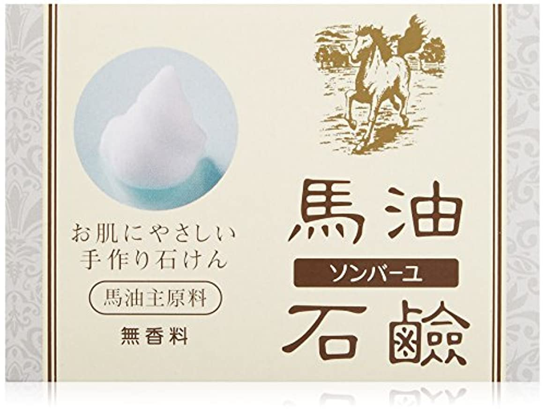 数学ワーカーメタルラインソンバーユ馬油石鹸(無香料)(85g)