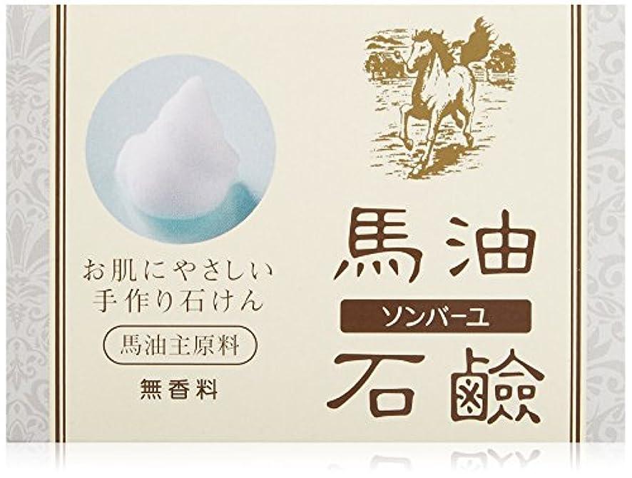 カスタム撃退するミュージカル薬師堂 ソンバーユ馬油石鹸(無香料) 85g