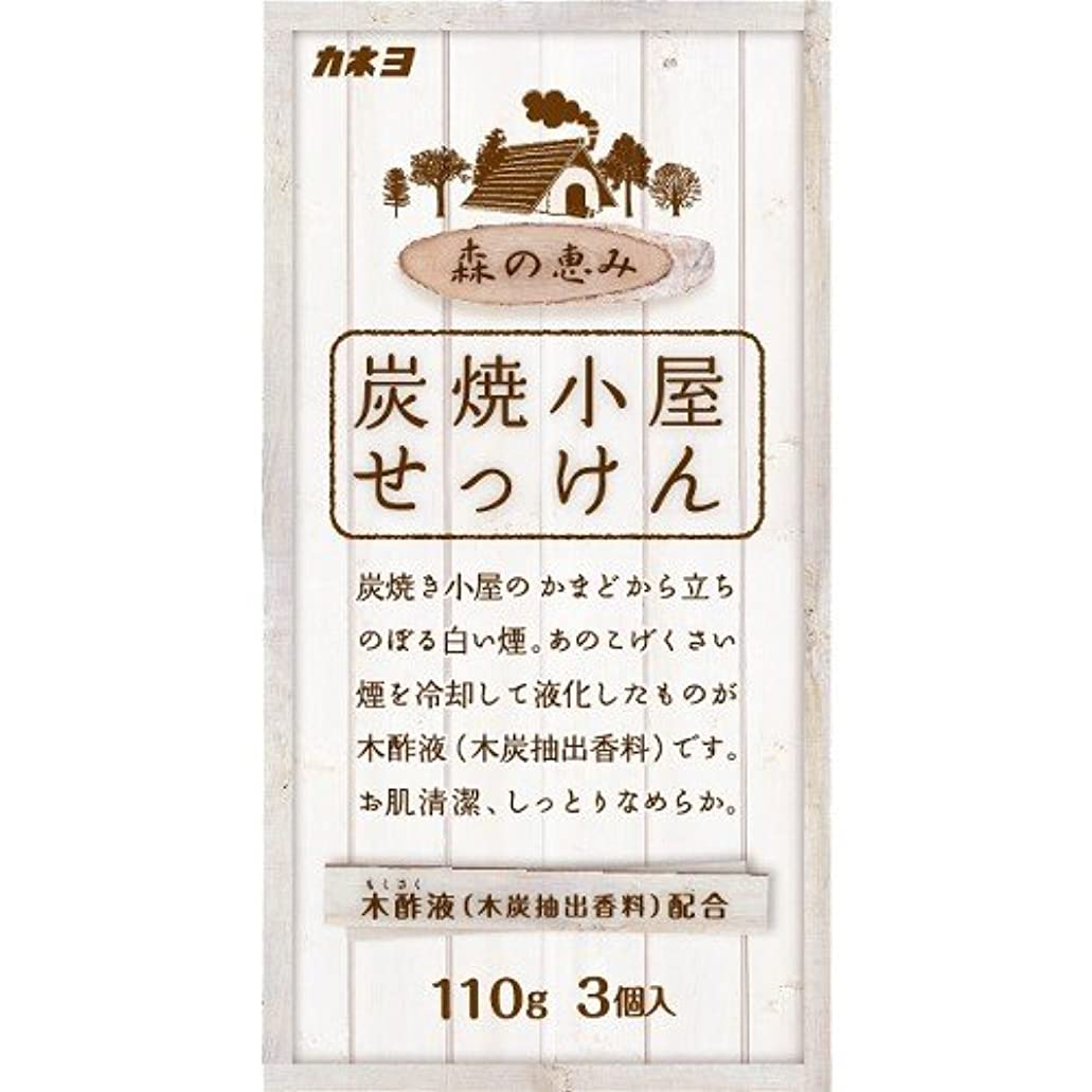 ヶ月目防止充電カネヨ石鹸 炭焼小屋 化粧石けん 110g×3個入