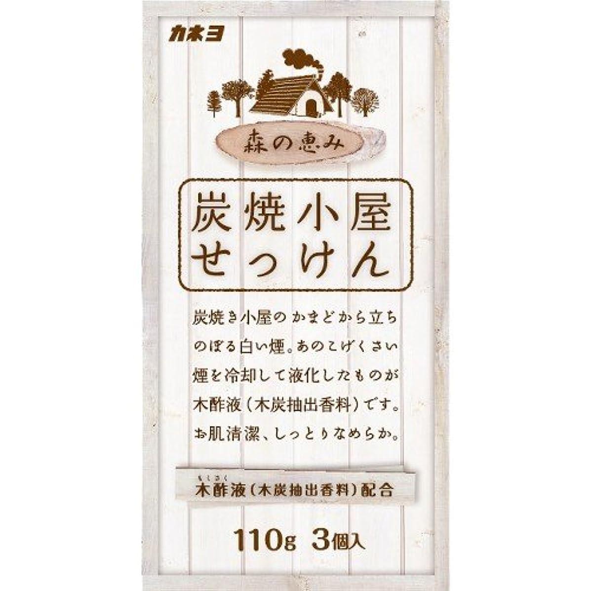 アノイ突然の薬を飲むカネヨ石鹸 炭焼小屋 化粧石けん 110g×3個入