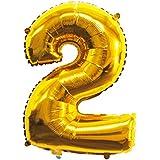 数字バルーン ゴールド 誕生日 ウェディング パーティー 飾り付け 飾り 風船 装飾風船#2