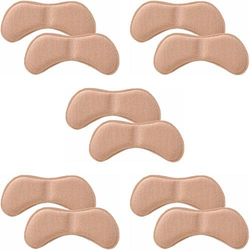靴擦れ パカパカ 防止 かかと パッド 5足 セット 長時間歩行 美脚 くつズレ 防止 保護 クッション 素材 ヒール スニーカー パンプス ビジネス 安心安全メーカー45日間 保証書付属 男女兼用 (ベージュ)