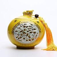 シリアルコンテナ 封印された缶陶器の貯蔵瓶ピクルスキムチジャーキッチン購入箱キャンディジャー コンテナ (色 : B)