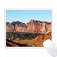 アメリカ、ユタ州、キャピトルリーフNP、ウォーターポケットフォールドの風景。 PC Mouse Pad パソコン マウスパッド