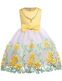 09fe506d10d92 子供ドレス 子供服 Plojuxi ロングドレス キッズワンピース 女の子 ジュニア ピアノ ...