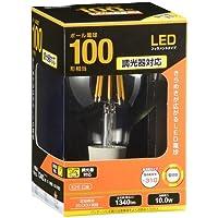 OHM LED電球 フィラメント ボール形 E26 100形相当 調光器対応 LDG10L/D C6