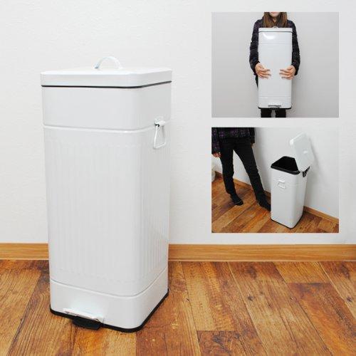 RoomClip商品情報 - 30L ペダル式 ペール ゴミ箱 スクエア ホワイト