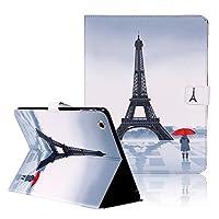 iPad 2iPad 3iPad 4ケース, iPad 2/ 3/ 4カバー、funplusブルーパープルバタフライフラワーパターンプレミアムPUレザーエレガントキラキラ輝きダイヤモンドGlitter磁気閉じるフリップつ折りブックスタンドケースカバー