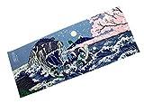 GODZILLA(ゴジラ) プリント手拭 ゴシ゛桜