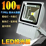 LED投光器 100W 白色 6500K 1000W相当/広角ライト/IP65屋外防水 看板灯 集魚灯 作業灯に/家庭用コンセントでOK!