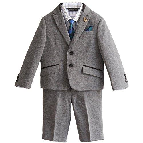 Catherine Cottage 入学式 卒園式 高級 ボーイズ ピーク襟 ジャケット スーツ 6点セット MA504 110cm グレー