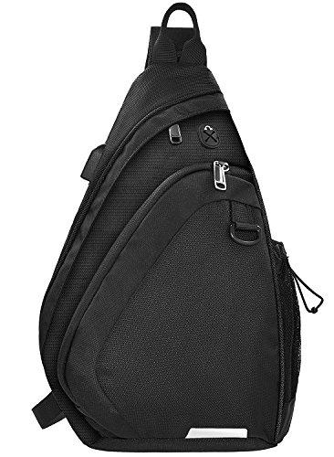 NEWHEY ショルダーバッグ メンズ ボディバッグ 大容量 斜め掛け バッグ アウトドア スポーツ 防水 旅行バッグ USBポート 軽量 10.5インチまでipad収納可能 ショルダー付替え可能 黒