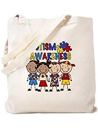 CafePress – Autism Awareness – ナチュラルキャンバストートバッグ、布ショッピングバッグ S ベージュ 0894855278DECC2