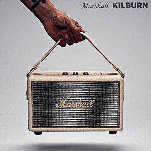 【国内正規保証付き】Marshall KILBURN マーシャル「キルバーン」:クリーム Bluetooth搭載のコンパクトスピーカー 【ギターアンプ、ヘッドフォン、iPhone、スマートフォン】