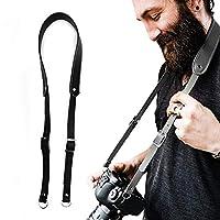 レザー製調節可能なデュアルショルダーカメラハーネスストラップスリング。