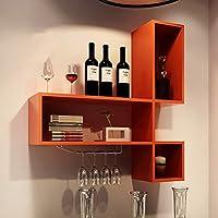 Super Kh® マルチレイヤーワインキャビネットワインラックシェルフの壁の棚クリエイティブな装飾フレーム * (色 : D)