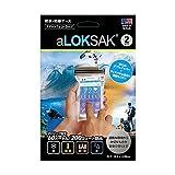 aLOKSAK(ロックサック) 防水マルチケース スマートフォン ラージ(2枚入) ALOKD2-3.75X7