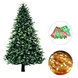 Tumao クリスマスツリー タペストリー 単品145cm×215cm +Merry Christmas ガーランド+3m LEDライト クリスマス 飾り 壁掛け クリスマスデコレーション バナー 壁 窓 インテリ (145cm*215cm)