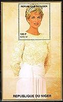 ダイアナ元皇太子妃追悼の切手/ニジェール1997年小型シート(4)