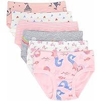 Nuziku Toddler Little Girls' Briefs Panties Kids Cotton Underwear Set 6 Pack