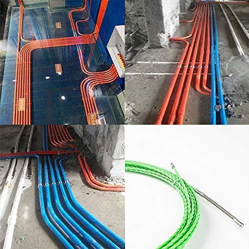 通線 ワイヤー グリーンスリムライン スリムヘッド 通線ワイヤー 15M ロッド径 4.0mm スチールワイヤー 通線 入線専用ワイヤー 通線工具