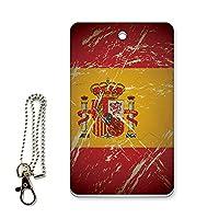 ICカード用パスケース 定期入れ デザイン 国旗 スペイン