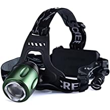 Lista Rechargeable Headlamp High Power Head Lamp Cree XML-T6 LED Light 3 Mode