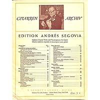 [冊子][楽譜]GITARREN ARCHIV Andres Segovia No.212 Joaquin Rodrigo Tres piezas espanolas アンドレス・セゴビア