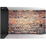 wall26 Old Brick Wall Background or Texture - Removable Wall Mural | Self-Adhesive Large Wallpaper - 100x144 inches