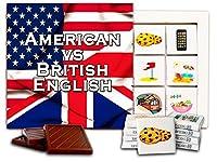 "DA CHOCOLATE キャンディ スーベニア ""アメリカ人対イギリス人英語"" チョコレートセット 5×5一箱 (Flags)"