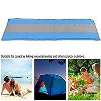 キャンプスリーピングパッド、屋外防湿パッド自動インフレータブルエアマットレススリーピングクッション5CMマットスリーピングマット、バックパッキング、旅行、ハイキング(青い)