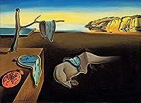 手描き-キャンバスの油絵 - The Persistence of Memory Surrealism 芸術 作品 洋画 -サイズ13