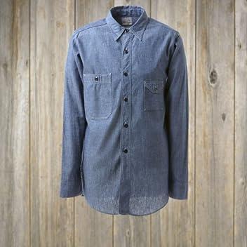 Big Yank 1930s Chambray Work Shirt 560-471-01: Indigo