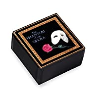 Phantom of the Opera Mask and Rose Glass Music Box by The San Francisco Music Box Company