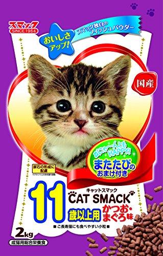 キャットスマック 11歳以上用 かつお まぐろ味 2kg