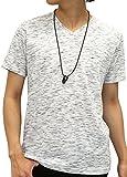 OVAL DICE(オーバルダイス) Tシャツ ネックレス セット 半袖 ゆる Vネック 無地 メンズ キナリ M