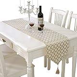 テーブルランナー ホームデコレーション タッセル シンプル 豪華 工芸品 おしゃれ 長方形 エレガント 結婚式 クリスマス ゴージャスさ 33 * 180/210cm (Color : Gold, Size : 33*210cm)