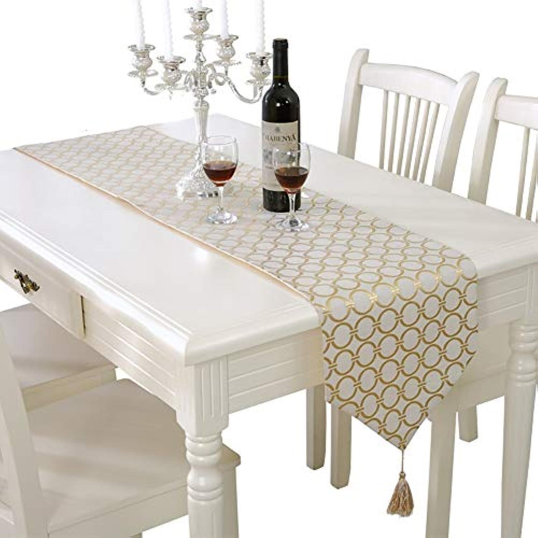 テーブルランナー ホームデコレーション タッセル シンプル 豪華 工芸品 おしゃれ 長方形 エレガント 結婚式 クリスマス ゴージャスさ 33 * 180/210cm (Color : Gold, Size : 33*180cm)